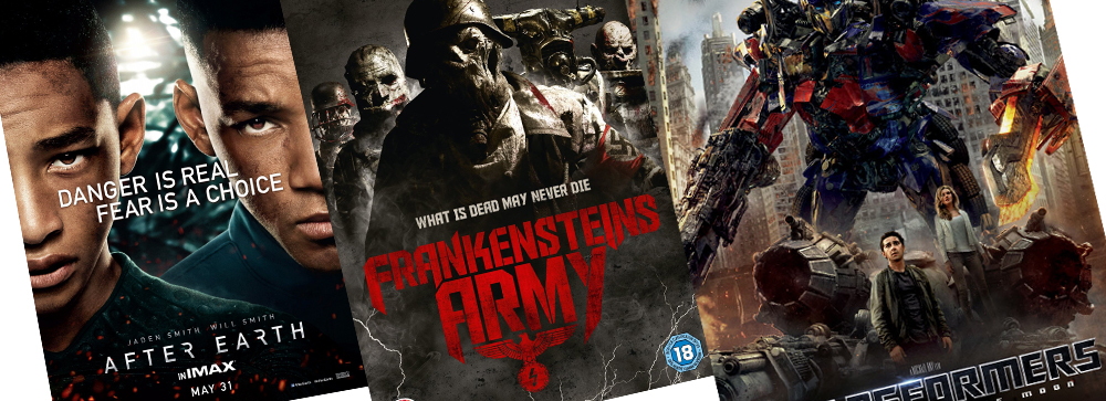 Triple-Terror: After Earth vs. Frankenstein's Army vs. Transformers 3