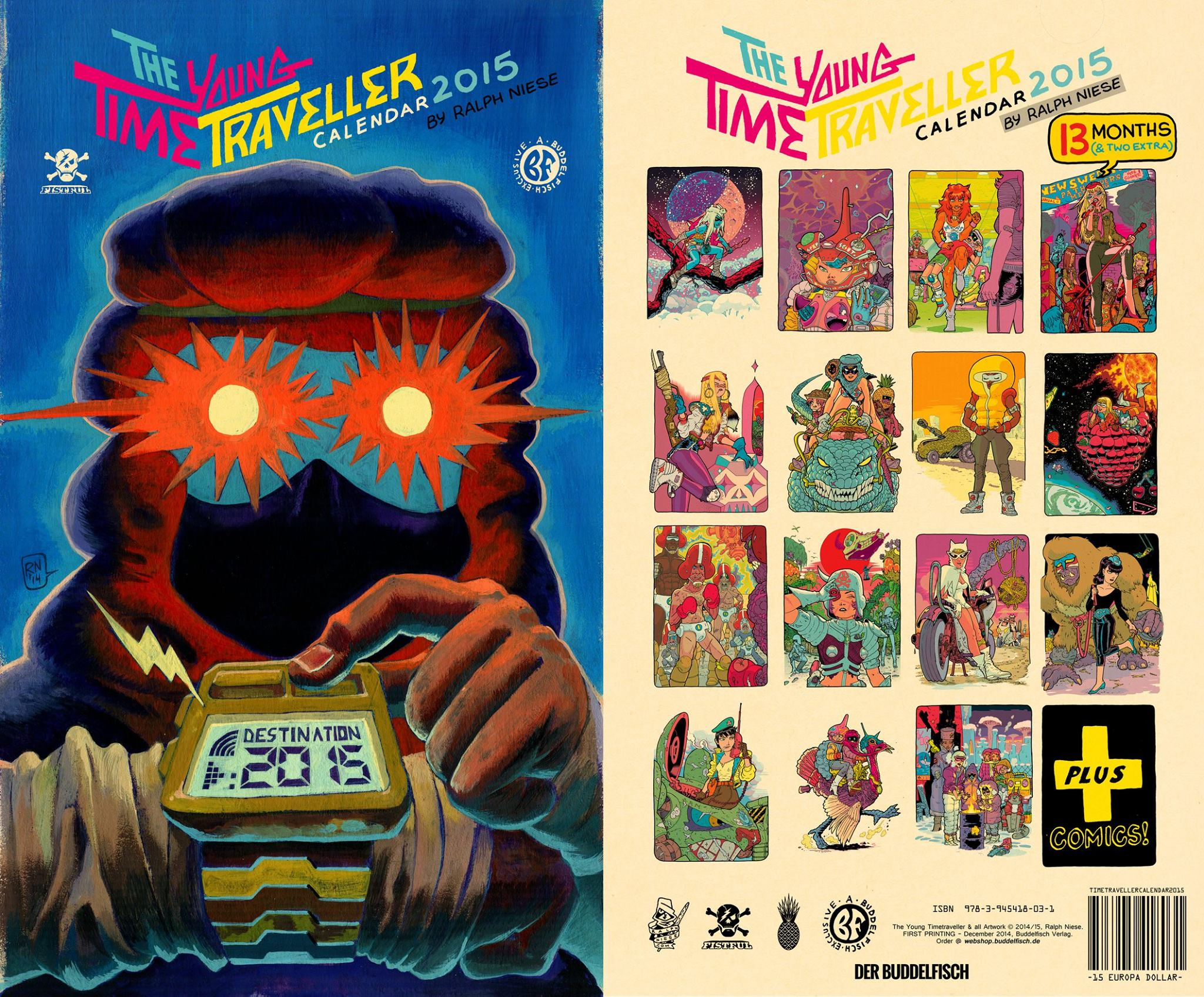 Heisse Ware im Webshop! THE YOUNG TIME TRAVELLER Kalender und FIESER SPLATTER #1