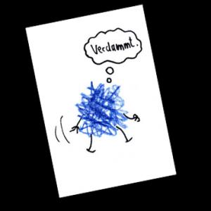 Blaues Gekrakel ist abstrakt und nicht ganz im Reinen mit sich selbst. Als ein Löwe die Klassenkasse stiehlt, wird sein Charakter auf die größte Probe gestellt! Bilder und Texte von Dirk M. Jürgens.