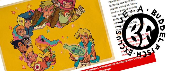 Buddelfisch Webcomic-Archiv online