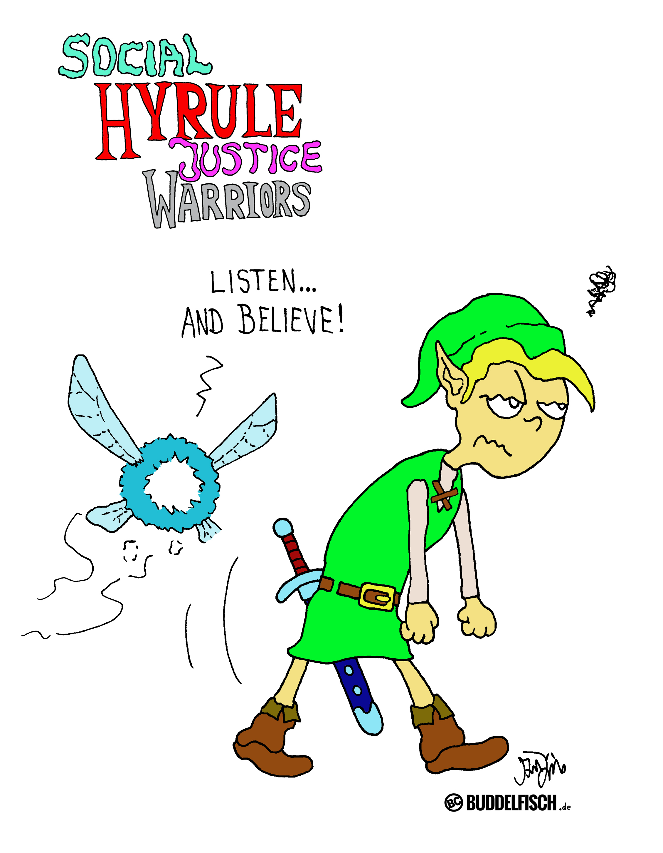 Webcomic - Social Hyrule Justice Warriors