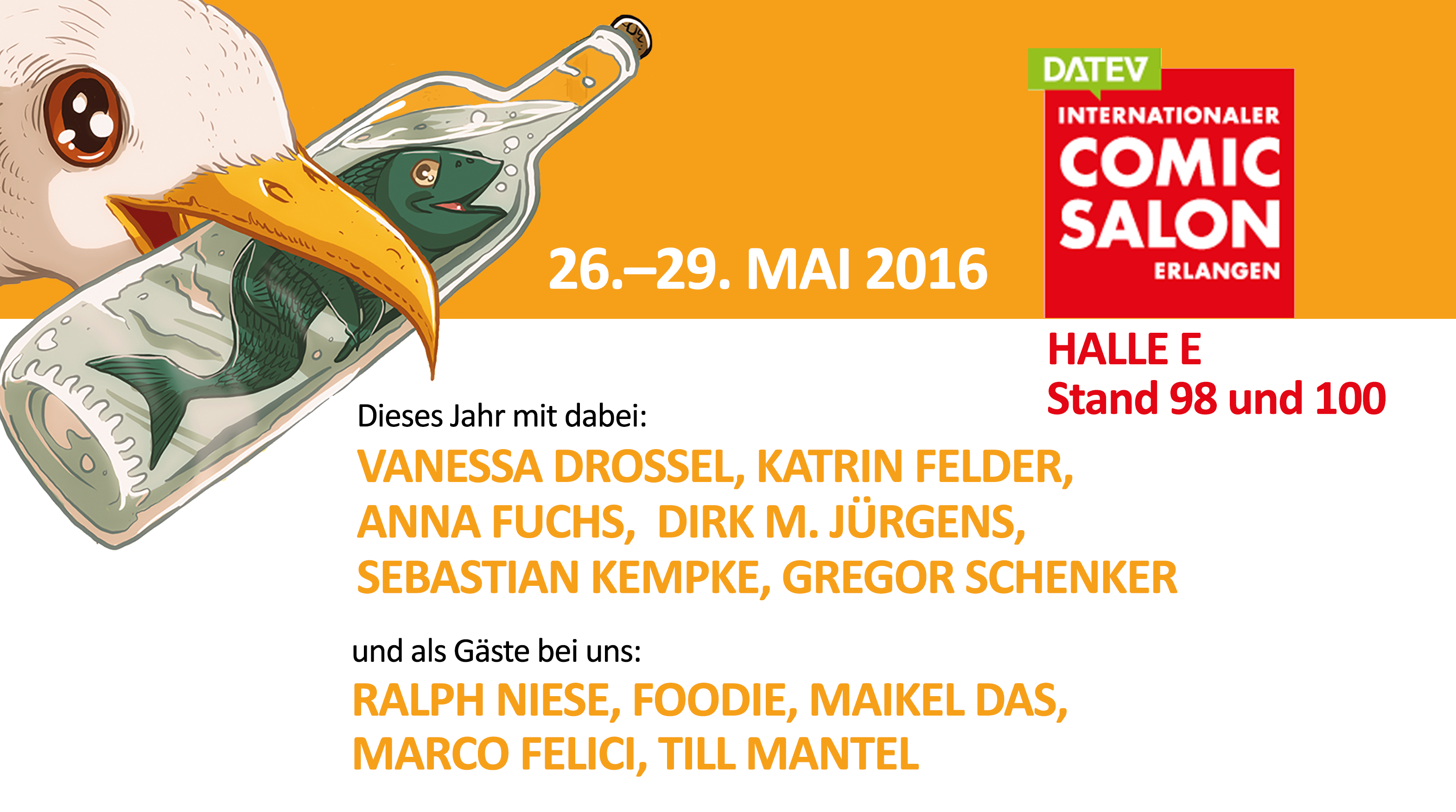 Internationaler Comic Salon in Erlangen (26.–29.05.2016)