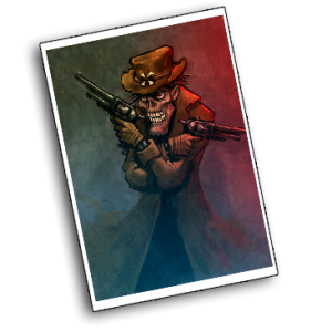 """In  """"Drei Ave Maria für ein Leichenhemd"""" schickt Gregor Schenker einen Untoten Pistolenhelden ins Rennen. Wiedererweckt durch indianischen Zauber und die Macht des Wendigo treibt es Zombie Django zur Rache an Viehbaron Jeff Milton und seinen Schergen. Doch wieviel kann ein Untoter wirklich einstecken, und was erwartet ihn jenseits des letzten aller Sonnenuntergänge?"""