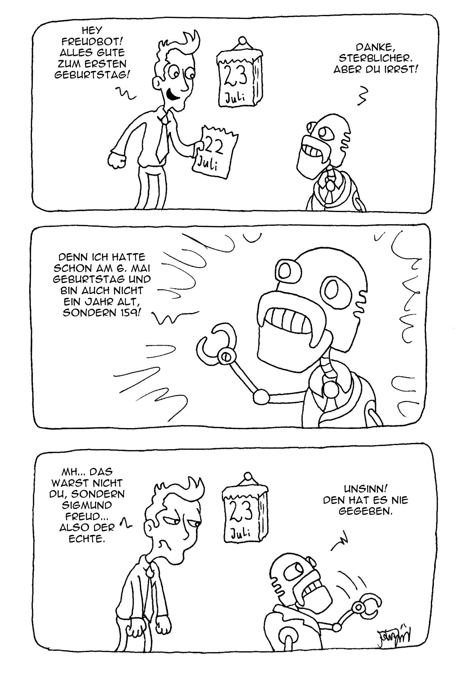 Webcomic - FreudBot-Geburtstag